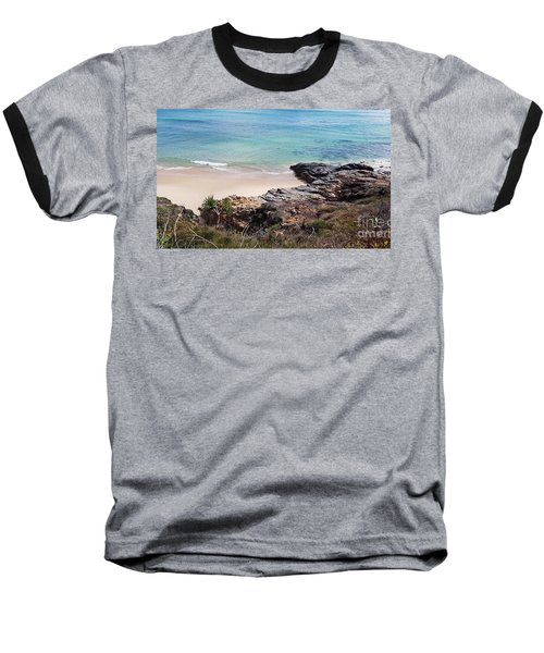 Rocks Sand And Water  Baseball T-Shirt
