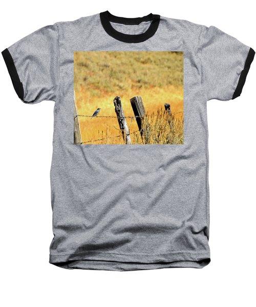 Rocky Mountain Blue Bird Baseball T-Shirt