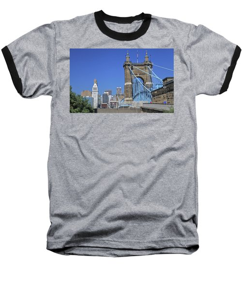 Roebling Bridge Baseball T-Shirt