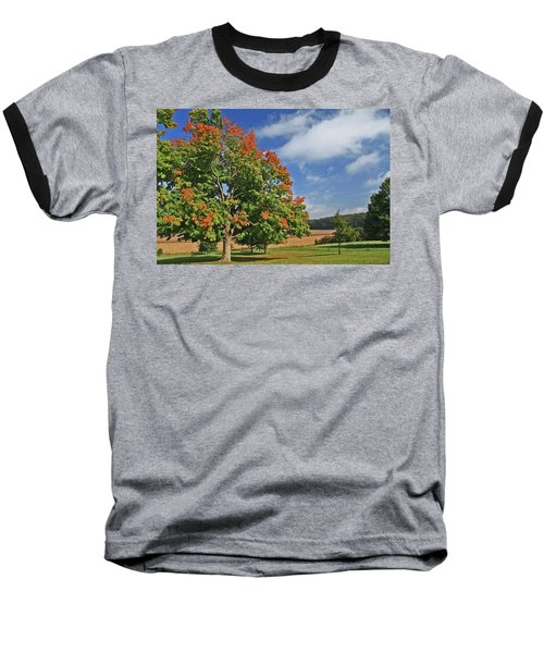 Rolling Farmland Baseball T-Shirt