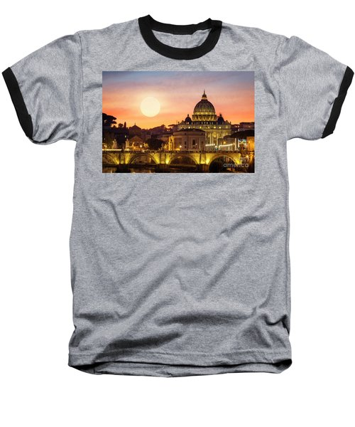 Roman Sunset Baseball T-Shirt