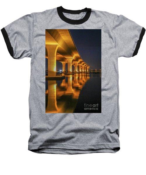 Roosevelt Bridge Portrait Baseball T-Shirt