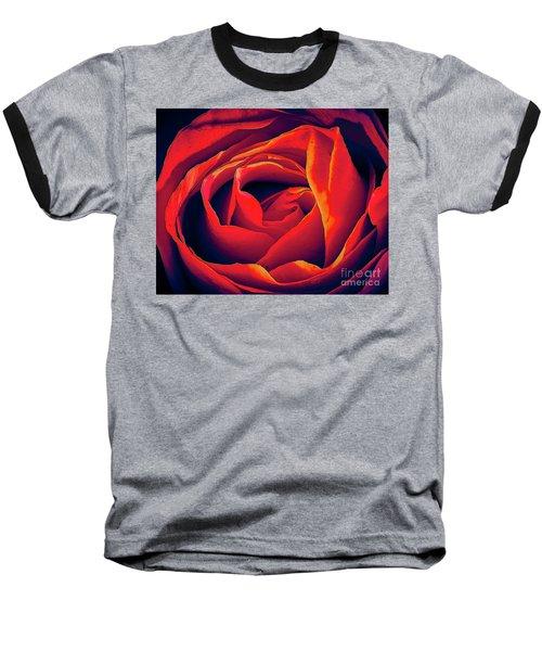 Rose Ablaze Baseball T-Shirt