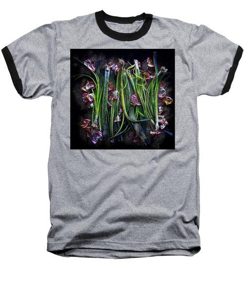 Rosy Leeks Baseball T-Shirt