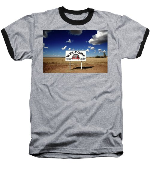 Route 66 - Midpoint Sign 2010 Bw Baseball T-Shirt