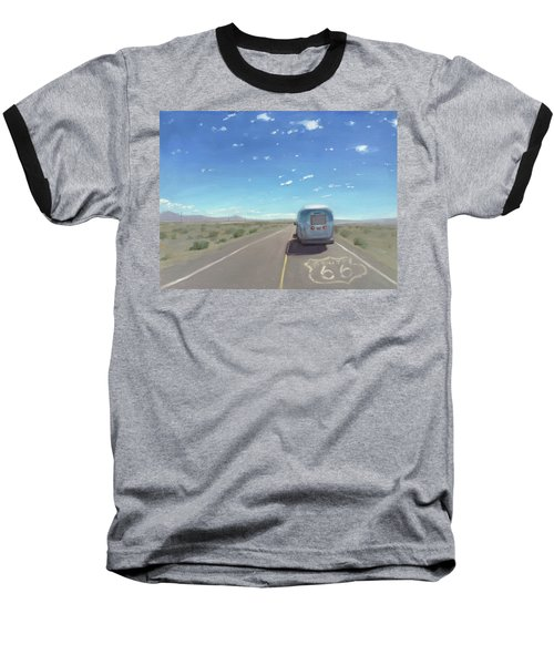 Route 66, Somewhere In California Baseball T-Shirt