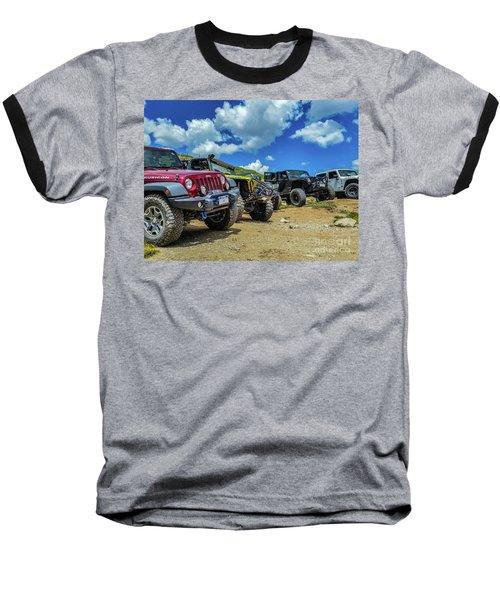 Row Of Jeeps Baseball T-Shirt