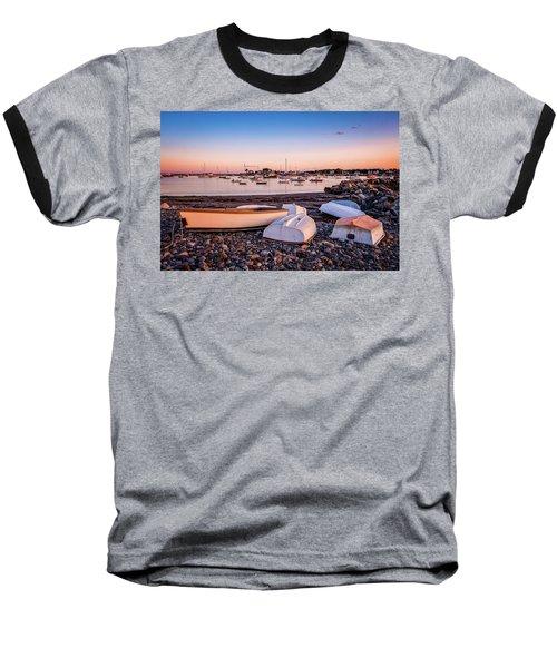 Rowboats At Rye Harbor, Sunset Baseball T-Shirt