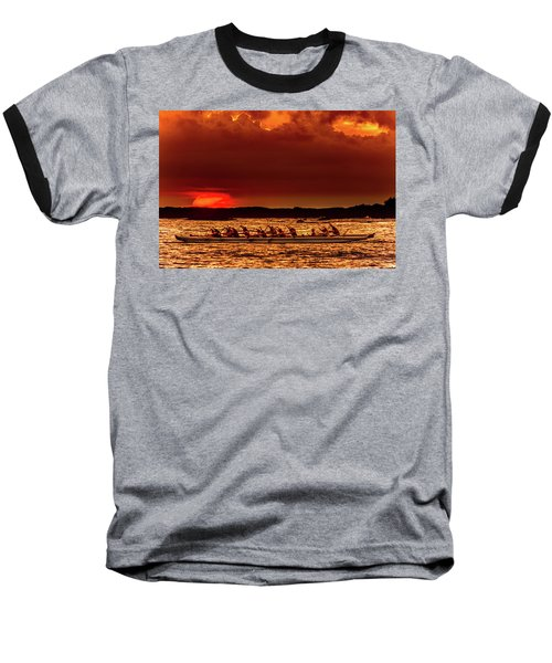 Rowing In The Sunset Baseball T-Shirt