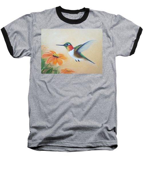 Rufous In Marigolds  Baseball T-Shirt