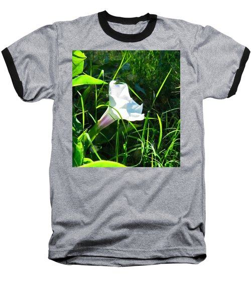 Baseball T-Shirt featuring the photograph Sacred Datura - Fairy Flower by Judy Kennedy