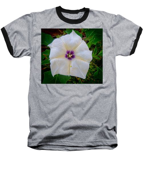 Baseball T-Shirt featuring the photograph Sacred Datura - Full Bloom by Judy Kennedy