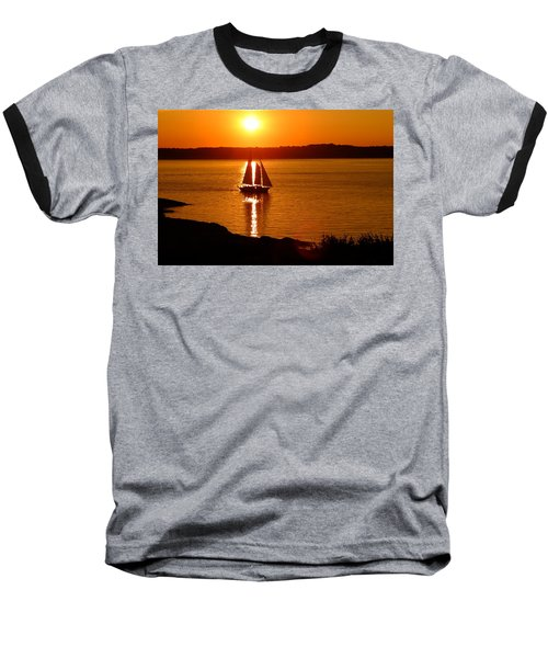 Sailing At Sunset Baseball T-Shirt