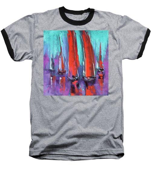 Baseball T-Shirt featuring the pastel Sailing by David Patterson