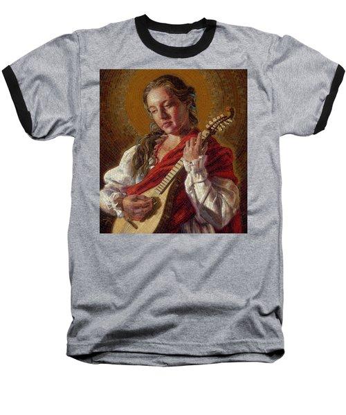 Saint Cecelia Mosaic Baseball T-Shirt