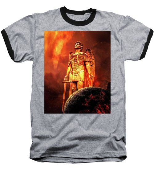 Baseball T-Shirt featuring the photograph Saint Michael by Michael Arend