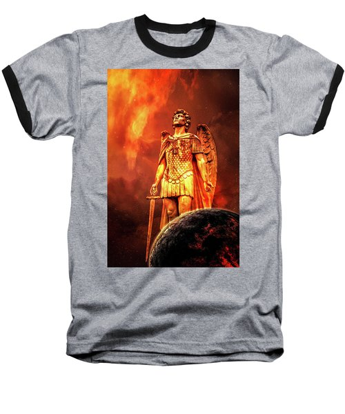 Baseball T-Shirt featuring the photograph Saint Michael The Archangel by Michael Arend