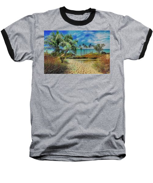 Sand To The Shore Montage Baseball T-Shirt