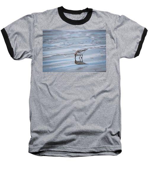 Sanderling Foraging Baseball T-Shirt