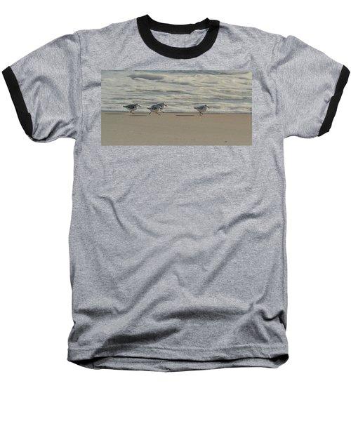 Sanderlings At Assateague Island National Seashore I 1x2 Baseball T-Shirt