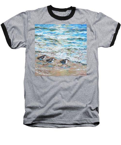 Sanderlings Running Baseball T-Shirt