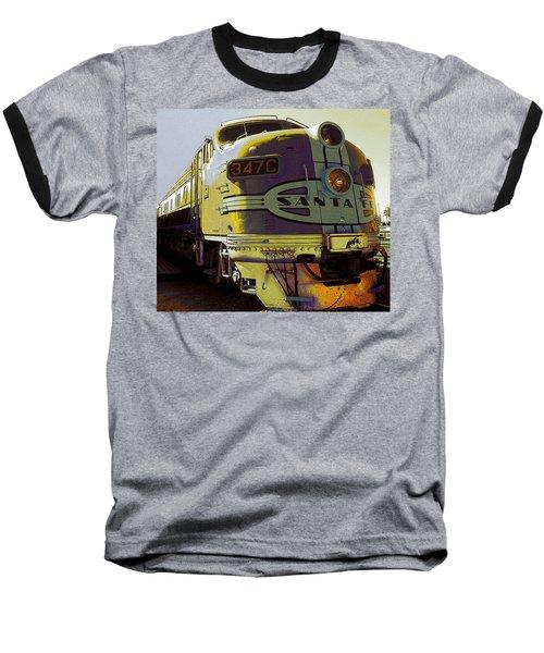 Santa Fe Railroad 347c - Digital Artwork Baseball T-Shirt