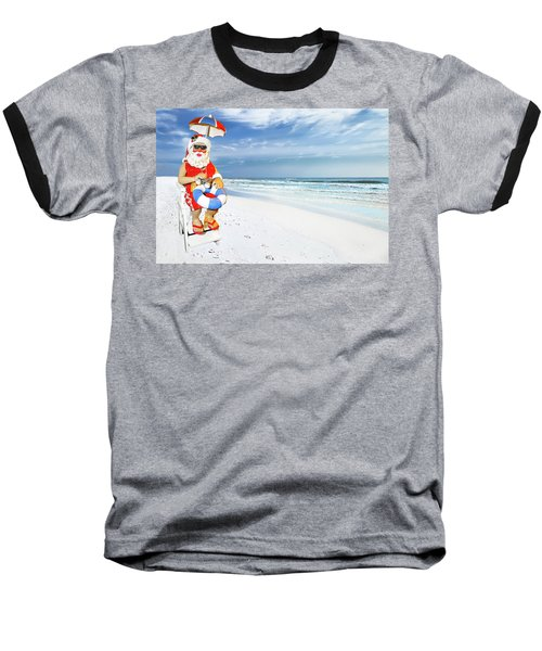 Santa Lifeguard Baseball T-Shirt