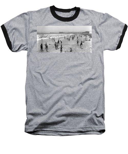 Santa Monica Beach Circa 1920 Baseball T-Shirt
