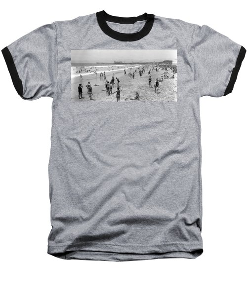 Santa Monica Beach Circa 1920 Baseball T-Shirt