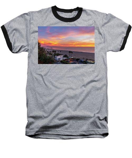 Santa Monica Pier Sunset - 11.1.18  Baseball T-Shirt