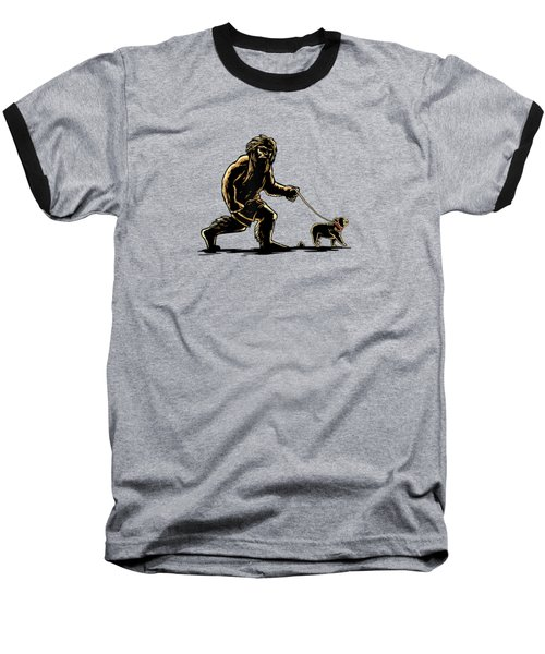 Sasquatch Walking French Bulldog T-shirt Frenchie Lovers Baseball T-Shirt