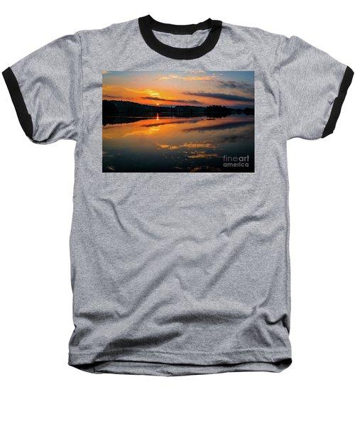 Savannah River Sunrise - Augusta Ga 2 Baseball T-Shirt