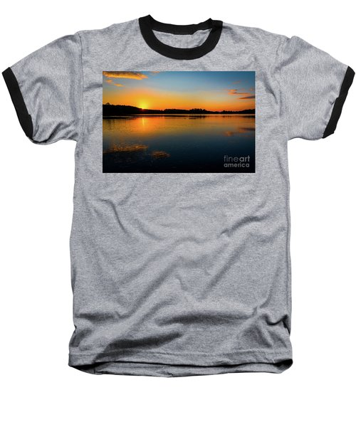 Savannah River Sunrise - Augusta Ga Baseball T-Shirt