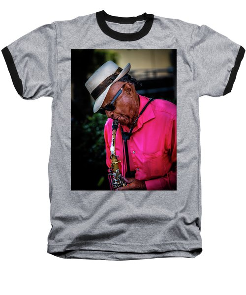 Sax On The Street Baseball T-Shirt