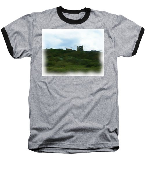 Scarborough Castle Painting Baseball T-Shirt