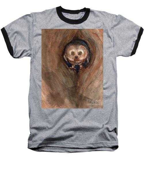 Scardy Owl Baseball T-Shirt