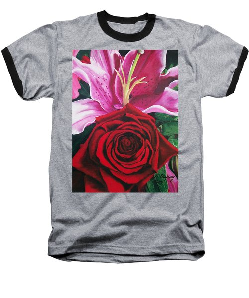 Scarlet Knight And A  Lily  Baseball T-Shirt