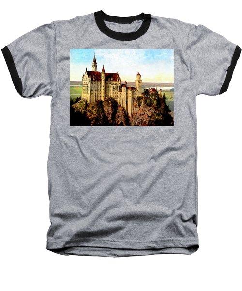 Schloss Neuschwanstein Remastered Baseball T-Shirt