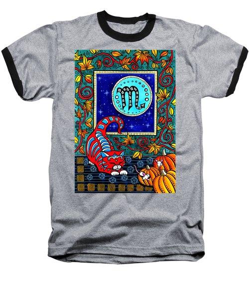 Scorpio Cat Zodiac Baseball T-Shirt