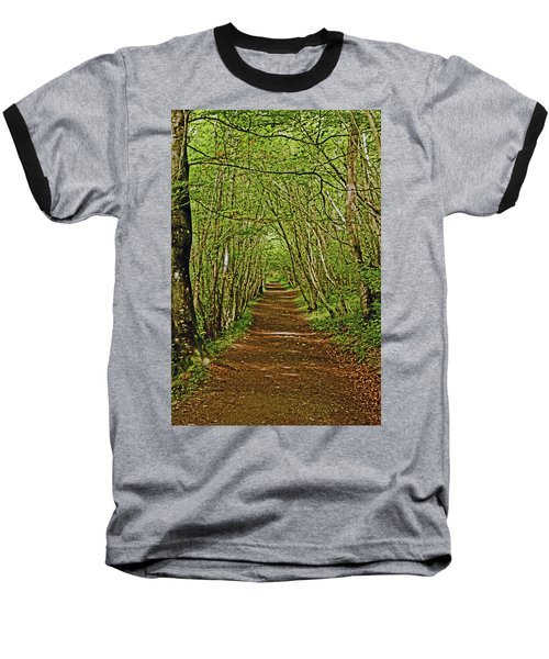 Scotland. Killiecrankie. Path Through The Trees. Baseball T-Shirt