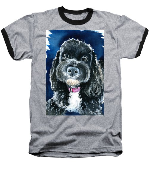 Scout - Cavoodle Dog Painting Baseball T-Shirt