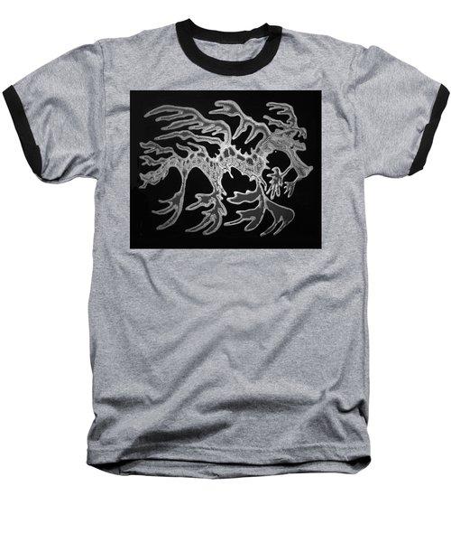 Sea Dragon Black And White Baseball T-Shirt