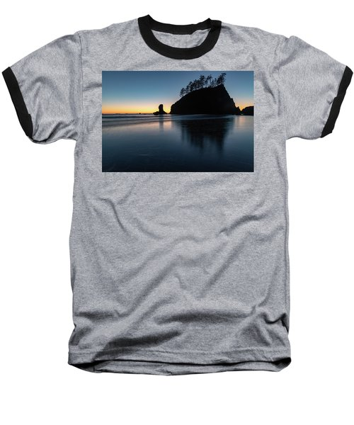 Sea Stack Silhouette Baseball T-Shirt