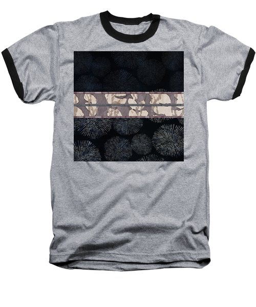 Sea Urchin Contrast Obi Print Baseball T-Shirt