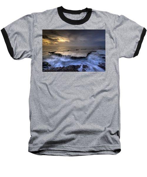 Sea Waterfalls Baseball T-Shirt
