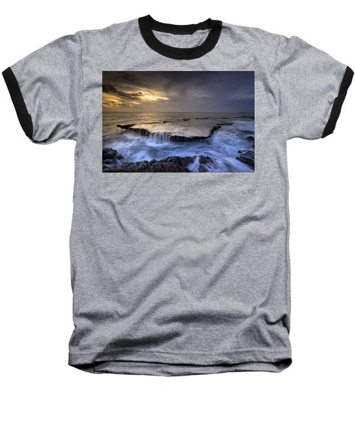 Sea Waterfalls Baseball T-Shirt