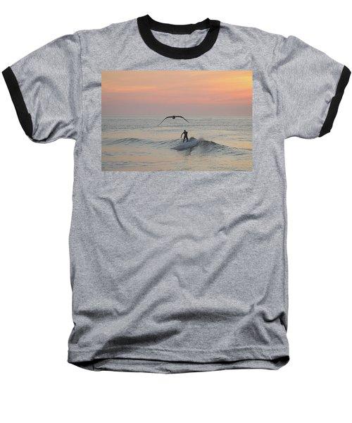 Seagull And A Surfer Baseball T-Shirt