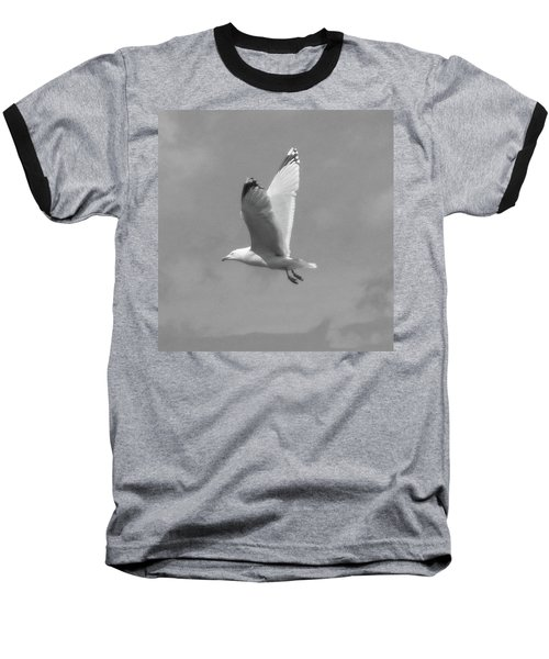 Seagull Over Llandudno Baseball T-Shirt