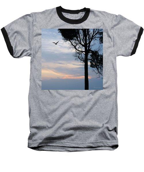 Seagull Sunset At Catawba Baseball T-Shirt