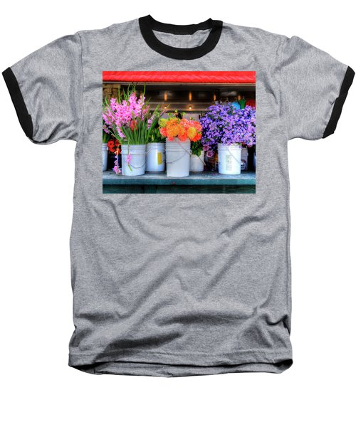 Seattle Flower Market Baseball T-Shirt